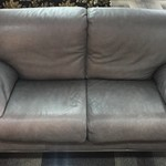1-24493 Perlora Gray Leather Sofa