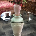 1-24417 Glass Top Vase Table