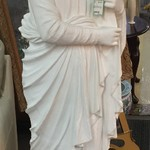 1-23910 White Statue, Concrete Base