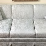 1-24628 Grey and White Sofa