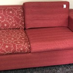 1-24634 Red Sofa Bed