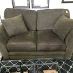 1-25076 Loveseat Olive Green/Brown