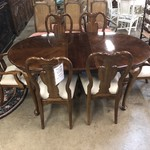 1-25110 Dining Room Table, 6 Chairs, w/ 2 Leaves