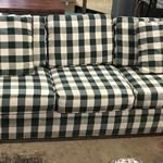 1-24972 Green Plaid Sofa Bed
