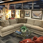 1-25275 Lazboy Sectional Sofa-Beige