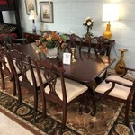 1-25293 Dining Table w/ 8 Chairs, Leaf, Pads