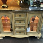 1-25295 Marble Top Cabinet