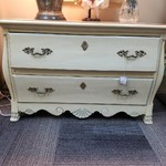 1-25191 Cream Colored 2 Drawer Chest