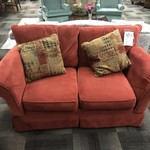 1-25360 Red Upholstered Loveseat