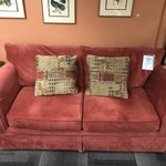 1-25359 Red Upholstered Sofa
