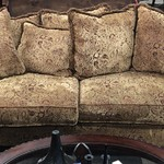 1-25511 Large Gold Sofa