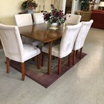 1-25930 Table w/ 6 High Back Upholstered Chairs