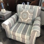 1-25934 Blue/Gray Stripped Chair