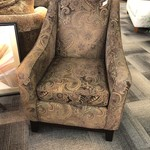 1-25903 Brown Upholstered Chair