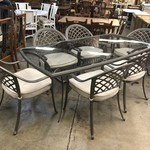 1-26062 Aluminum Table w/ 6 Chairs