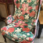 1-25994 Floral Wing Back Chair