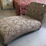 1-23633 Tan Upholstered Chaise