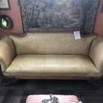 1-25626 Leather Sofa With Wood Trim