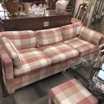 1-26262 Pink Plaid Sofa