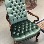 1-26195 Green Tufted Chair