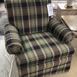 1-26145 Upholstered Plaid Chair