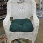 1-26181 Resin White Wicker Chair