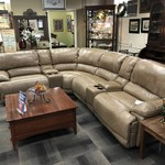 1-26372 Motorized Leather Sectional