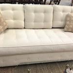 1-26522 Ethan Allen White Sofa