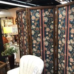 1-26452 Wood and Cloth Room/Screen Divider