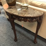 1-26128 Marble Top Demiline Table