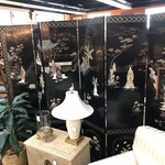 1-26526  6 Panel Asian Mother of Pearl Screen