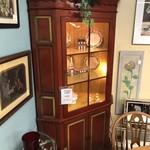 1-26689 Red Corner Cabinet