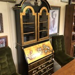 1-27003 Black and Gold Secretary Desk