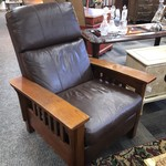 1-27020 Leather Mission Style Recliner