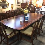 1-27413 Chippendale Style Dining Table w/ 6 Chairs, 2 Boards and Pads
