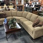 1-27388 Smith Bros Tan Sectional Sofa