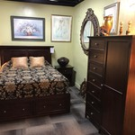 1-27587 Queen Bed w/ Mattress, Armoire, and Nightstand