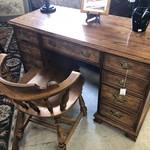 1-27396 Oak Desk w/ Chair