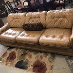 1-27670 Tan Leather Sofa