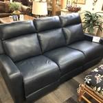 1-27717 Pallister Power Reclining Navy Leather Sofa