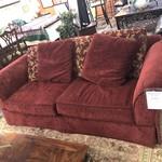 Red Sofa w/ Pillows