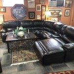1-27808 6 Piece Brown Leather Power Reclining Sectional