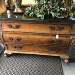 1-27753 Black Marble Top Bombe Chest