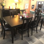 1-27827 Black Table w/ 6 Chairs