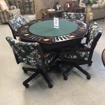 1-28121 Poker Table w/ 4 Chairs
