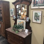 1-28049 Eastlake Dresser w/ Mirror and Marble Top