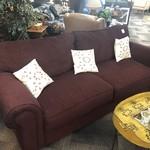 1-28058 Klaussner Burgundy Sofa