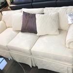 1-28162 Century White Sofa w/ Pillows