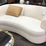 1-28191 Henredon White Sofa