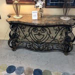 1-28331 Metal and Stone Console Table